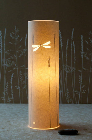 Small Cylindrical Dragonfly Table Lamp