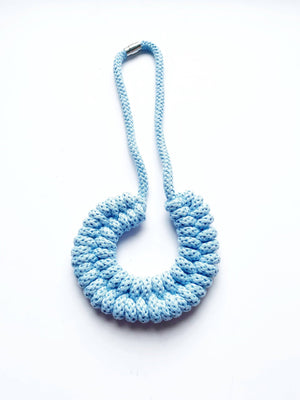 The Lydia Necklace - Baby Blue Lightweight Sustainable Necklace