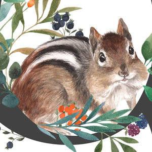 C for Chipmunk Fine Art Print - (21x21cm)