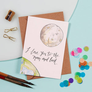 Greeting Card - Moon & Back
