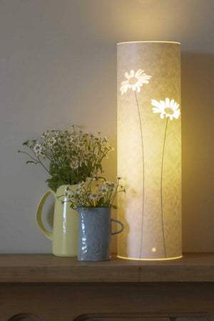 Small Cylindrical Daisy Table Lamp