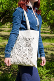 Chickens Design Screen Printed Cotton Tote Bag