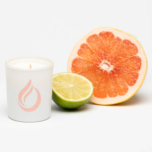 Aromatherapy 'Citrus Breeze' White Soy Candle - Small