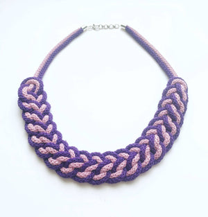 The Lindsey Necklace - Crochet Necklace