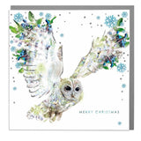 Tawny Owl Merry Christmas Card (6pcs)