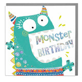 Monster Happy Birthday Card (6pcs)