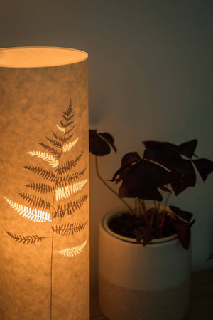 Small Cylindrical Fern Table Lamp