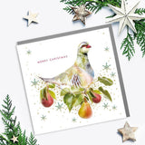 Partridge Merry Christmas Card (6pcs)