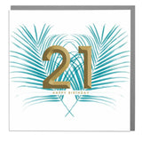 21st Happy Birthday Card (6pcs)