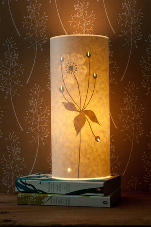 Small Cylindrical Japanese Anemone Table Lamp