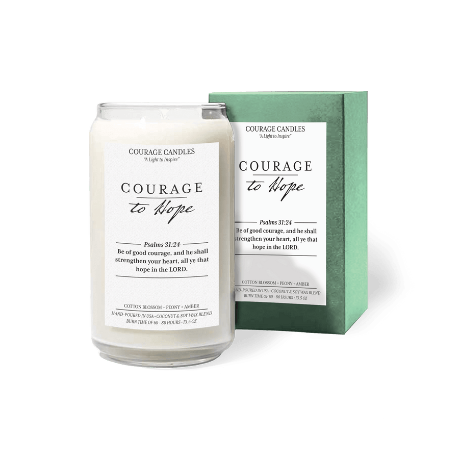 Courage to Hope Candle Candle Courage Candles