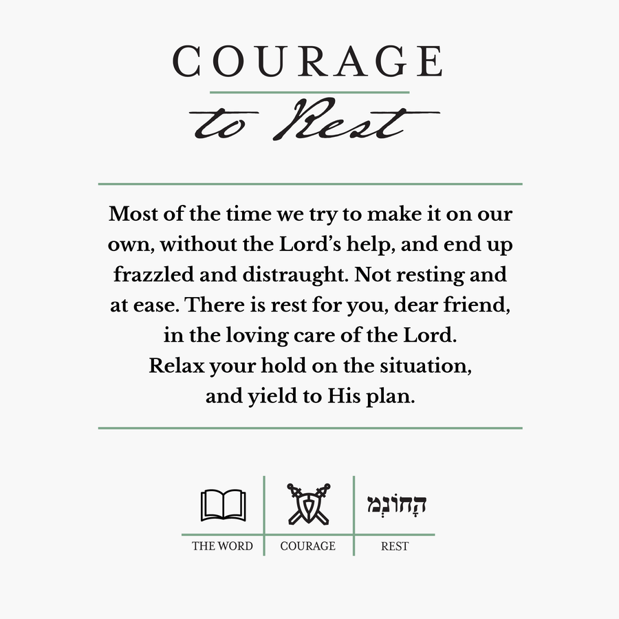 Courage to Rest Candle Candle Courage Candles