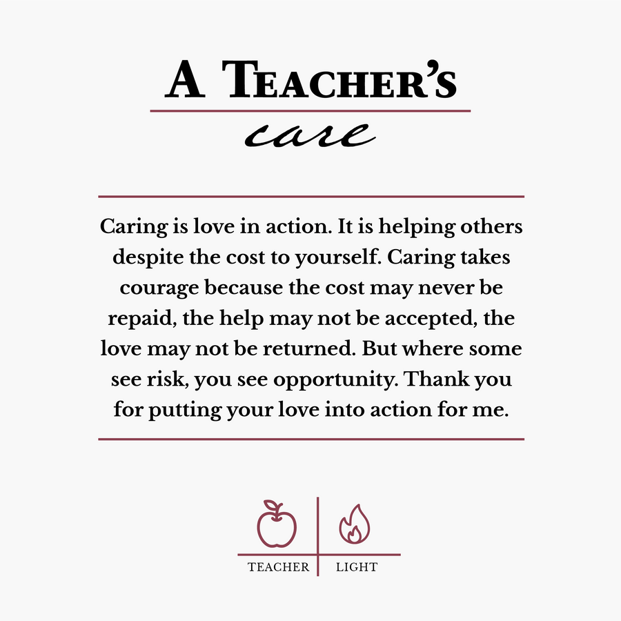 Teacher's Care Candle Candle Courage Candles