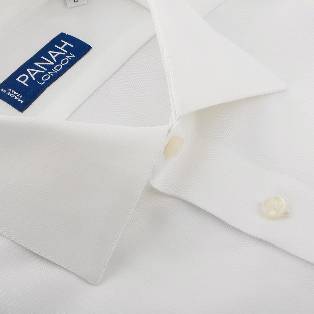 White Luxury Twill Shirt | Panah London
