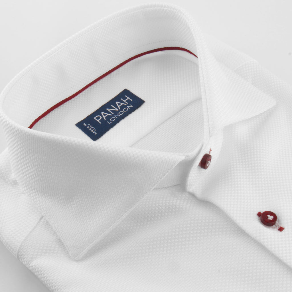 Contrast Stitched Luxury Basket Weave Shirt | Panah London