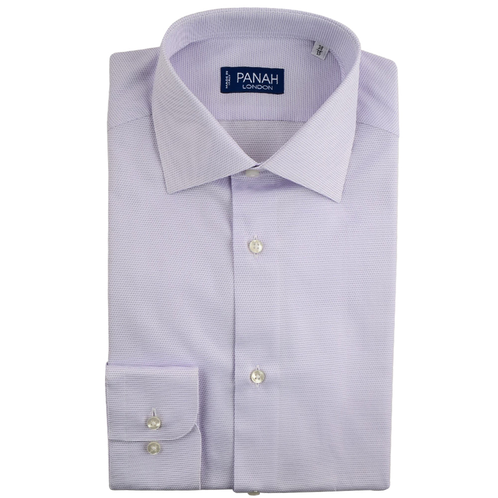 Lilac Luxury Cavalry Twill Shirt | Panah London