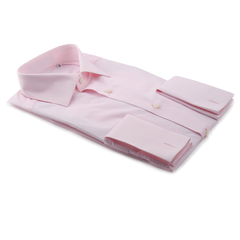 Pink Herringbone Stripe Luxury Shirt | Panah London
