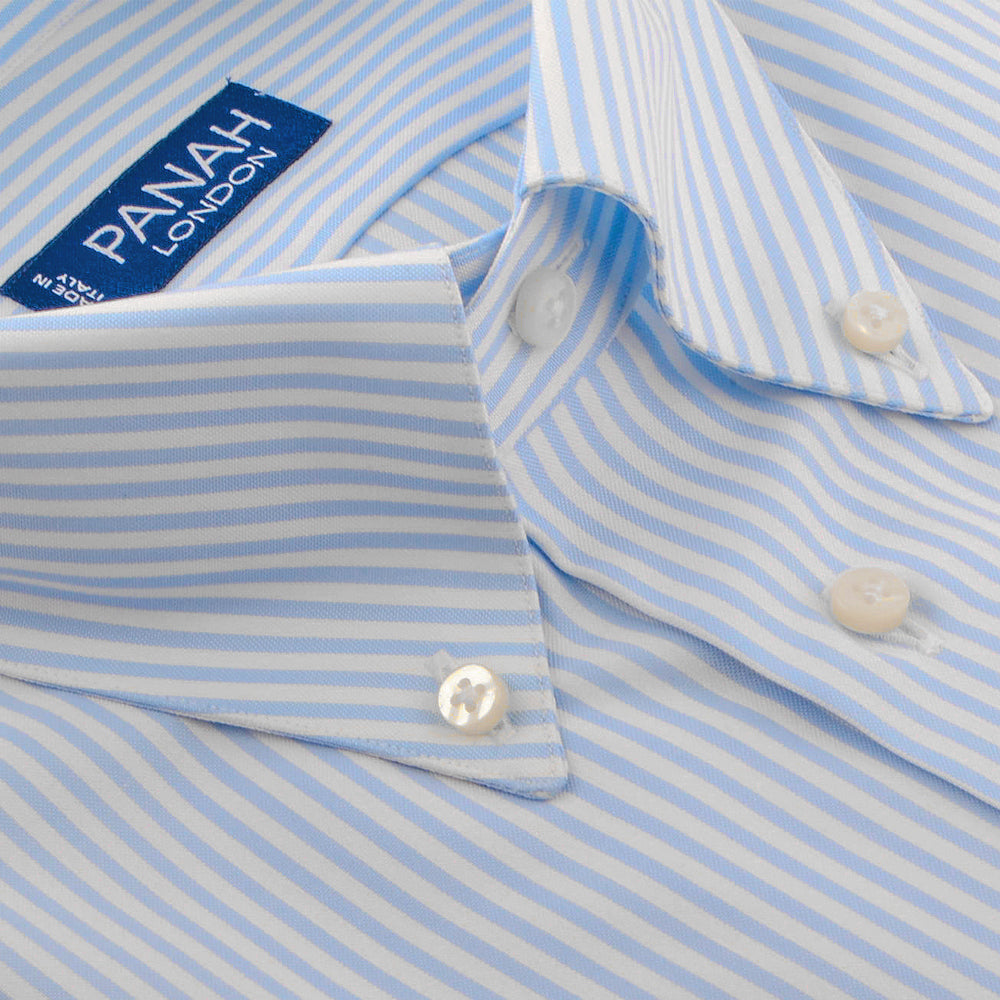 Sky Blue Stripe Luxury Shirt | Panah London