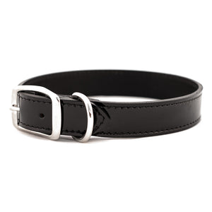 Black Patent Leather Dog Collar