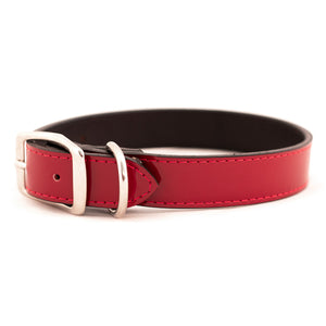 Red Patent Leather Dog Collar
