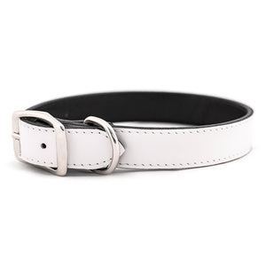 White Patent Leather Dog Collar