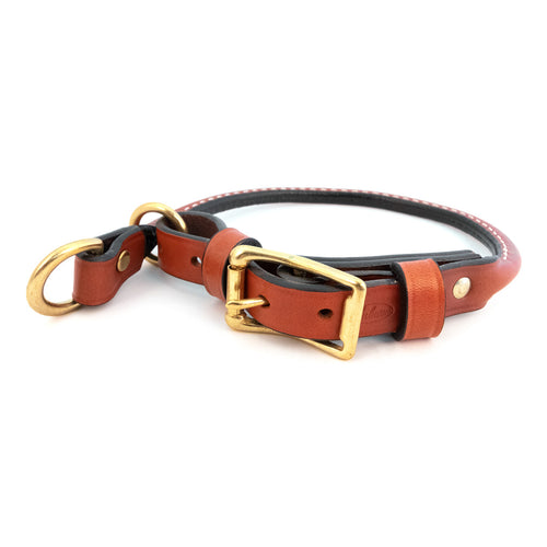 Rolled Combination Training Collar Tan