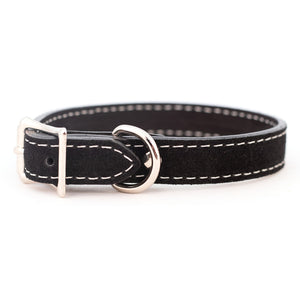 Saratoga Suede collar in black