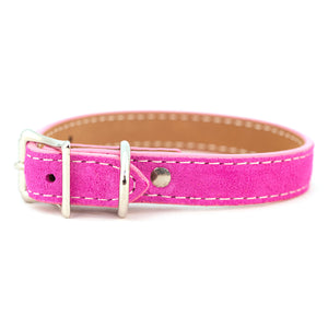 Saratoga Suede collar in pink