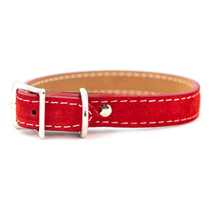 Saratoga Suede collar in red