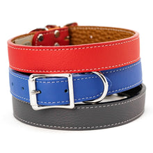 Load image into Gallery viewer, Tuscan Collars Bright Red Cobalt Blue and Slate Grey