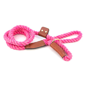 Pink Cotton Rope Slip Leash
