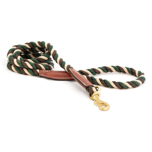 Camo Cotton Rope Snap Leash