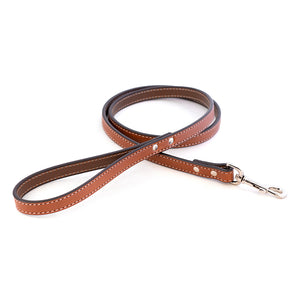 Dover Court Leash in tan