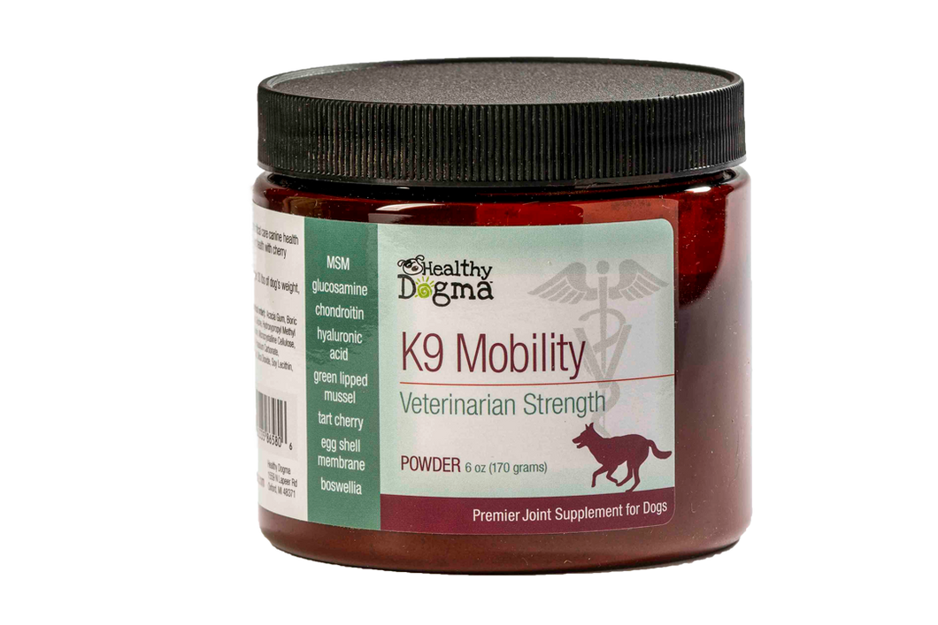Healthy Dogma K9 Mobility Canine Supplement 6oz Jar