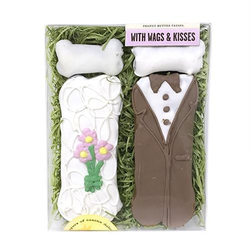 With Wags & Kisses Box - Bride & Groom Bones