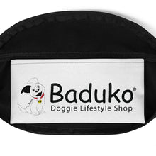 Load image into Gallery viewer, Baduko wags his Tail Fanny Pack