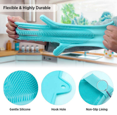 Cleaning Scrubber Gloves