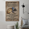 (cv833) LDA American football poster - Dad to Son - I wish you