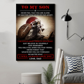 (cv836) LDA American football poster - Dad to Son - Never feel that