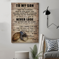 (cv846) LDA American football poster - Dad to Son - never lose