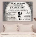 (cv969) LDA American football poster - to my husband - I love you