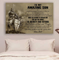 (cv1164) LDA Knight templar poster - Dad to son - Always remember