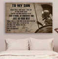 (cv1197) LDA Spartan poster - Dad to son - Just do your best