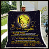 (QL564) LVL Softball blanket - Dad to daughter - I love you