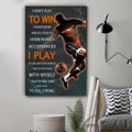(cv1144) LVL Soccer poster - I don't play to win competitions