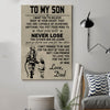 (cv125) soldier Poster - to my son