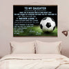 (CV880) Soccer canvas with the wood frame - to my daughter - LVL