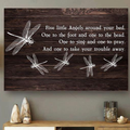 (cv1117) LHD Dragonfly poster - Five little angels