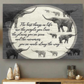 (cv1128) LHD Elephant poster - The best things in life