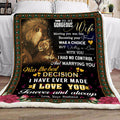 (QL699) LHD Lion blanket - Husband to Wife - Meeting you was a fate